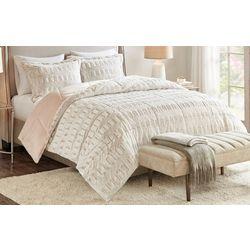 Madison Park Gia Back Print Long Fur Comforter