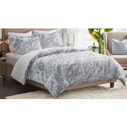 Madison Park Lana Long Faux Fur Comforter Set