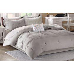 Intelligent Design Toren Grey Comforter & Sheet Set