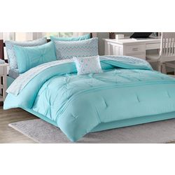 Intelligent Design Toren Aqua Comforter & Sheet Set
