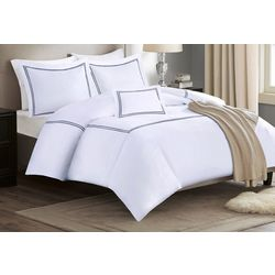 Madison Park Embroidered Cotton Sateen 5-pc. Comforter Set