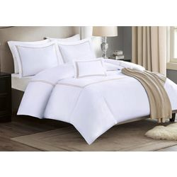 Madison Park Embroidered Cotton Sateen Duvet Cover Set