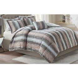 Madison Park Zuri 4 Pc Faux Fur Comforter Set
