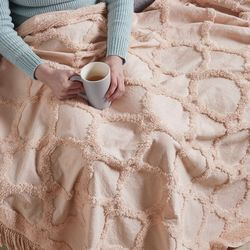 Madison Park Brianne Cotton Tufted Blanket