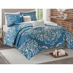 Madison Park Eden 6-pc. Printed Coverlet