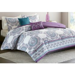 Intelligent Design Anika Purple Comforter Set