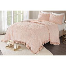 Madison Park Laetitia Medallion Coverlet Set