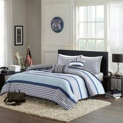 Intelligent Design Paul Blue Comforter Set