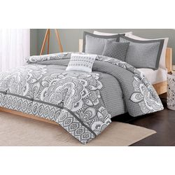 Intelligent Design Isabella Grey Comforter Set