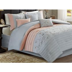 Madison Park Serene 7-pc. Embroidered Comforter Set