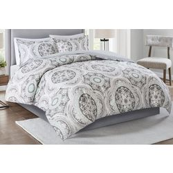 Madison Park June 3-pc. Medallion Print Duvet Set