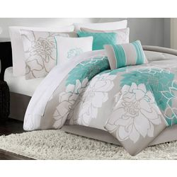 Madison Park Lola Aqua 7-pc. Comforter Set