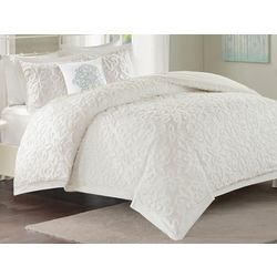 Madison Park Sabrina White 4-pc. Tufted Comforter Set