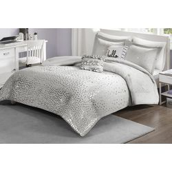 Intelligent Design Zoey Metallic Triangle Comforter Set