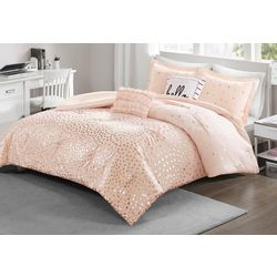 Intelligent Design Zoey Metallic Triangle Comforter Set