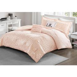Zoey Metallic Triangle Comforter Set