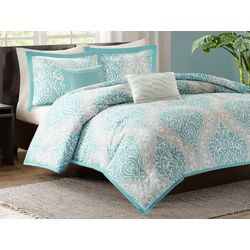 Intelligent Design Senna Aqua Comforter Set