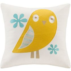 Ink + Ivy Kids Agatha Bird Embroidered Square Pillow