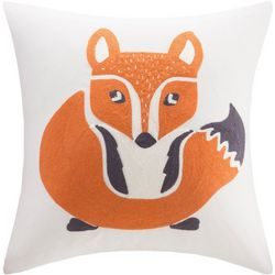 Ink + Ivy Kids Foxy Embroidered Square Pillow