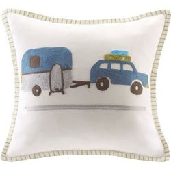 Ink + Ivy Kids Shasta Camper Embroidered Square Pillow
