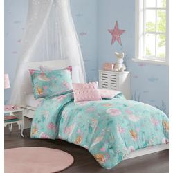 Kids Darya Printed Mermaid Comforter Set