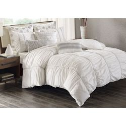 Ink & Ivy Reese White 3-pc. Comforter Set