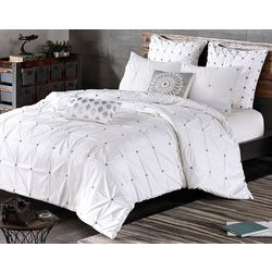 Ink & Ivy Masie White 3-pc. Comforter Set