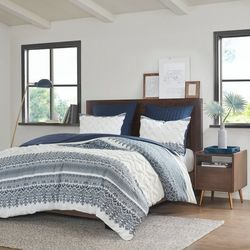 Ink & Ivy Mila Cotton Printed Duvet Cover Set