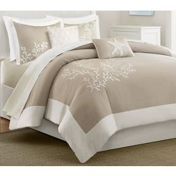 Coastline Khaki 5-pc. Duvet Cover Set