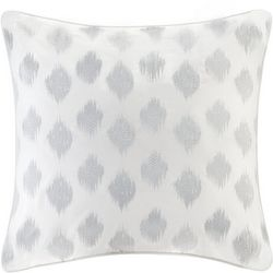 Ink & Ivy Nadia Dot Embroidered Silver Euro Sham