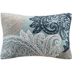 Ink & Ivy Kiran Blue Embroidered Decorative Pillow