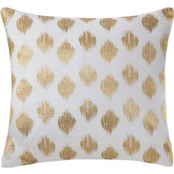 Ink & Ivy Nadia Dot Gold Square Decorative Pillow