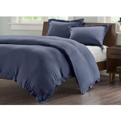 Ink & Ivy Cotton Jersey Heathered Duvet Cover Set