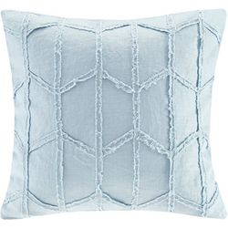 Harbor House Frayed Geo Linen Square Decorative Pillow
