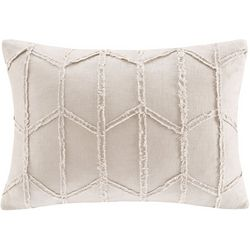 Harbor House Frayed Geo Linen Oblong Decorative Pillow