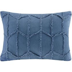 Harbor House Frayed Geo Linen Oblong Decorative Pillow