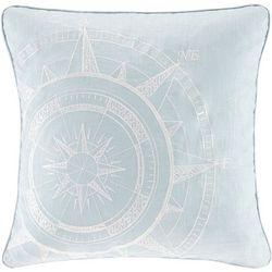 Harbor House Steer Compass Square Decorative Pillow