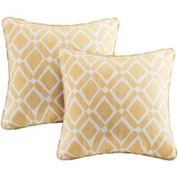 Madison Park Delray Diamond 2-pc. Square Pillow Set