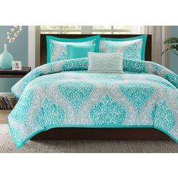 Senna Aqua Blue Comforter Set