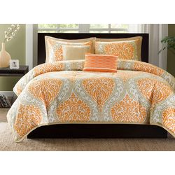Intelligent Design Senna Orange Comforter Set