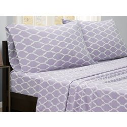 True North Ogee Print Micro Fleece Sheet Set