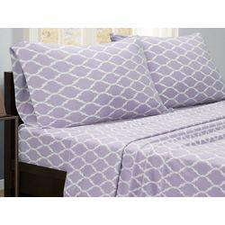 True North Ogee Print Micro Fleece Sheet Set