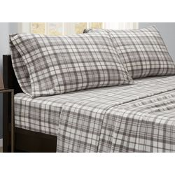 True North Plaid Micro Fleece Sheet Set