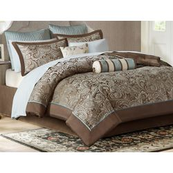 Madison Park Aubrey Brown 12-pc. Comforter Set