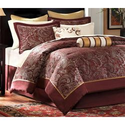 Madison Park Aubrey Red 12-pc. Comforter Set