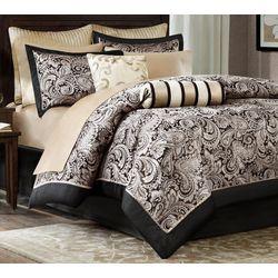 Madison Park Aubrey Black 12-pc. Comforter Set