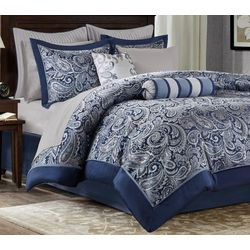 Madison Park Aubrey Navy 12-pc. Comforter Set