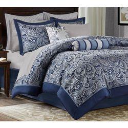 Madison Park Aubrey Navy 12-pc. Comforter Set