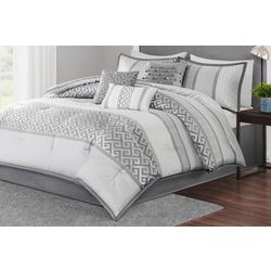 Madison Park Bennett Grey 7-pc. Comforter Set