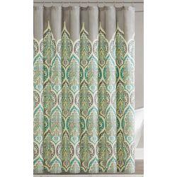 Madison Park Nisha Teal Shower Curtain